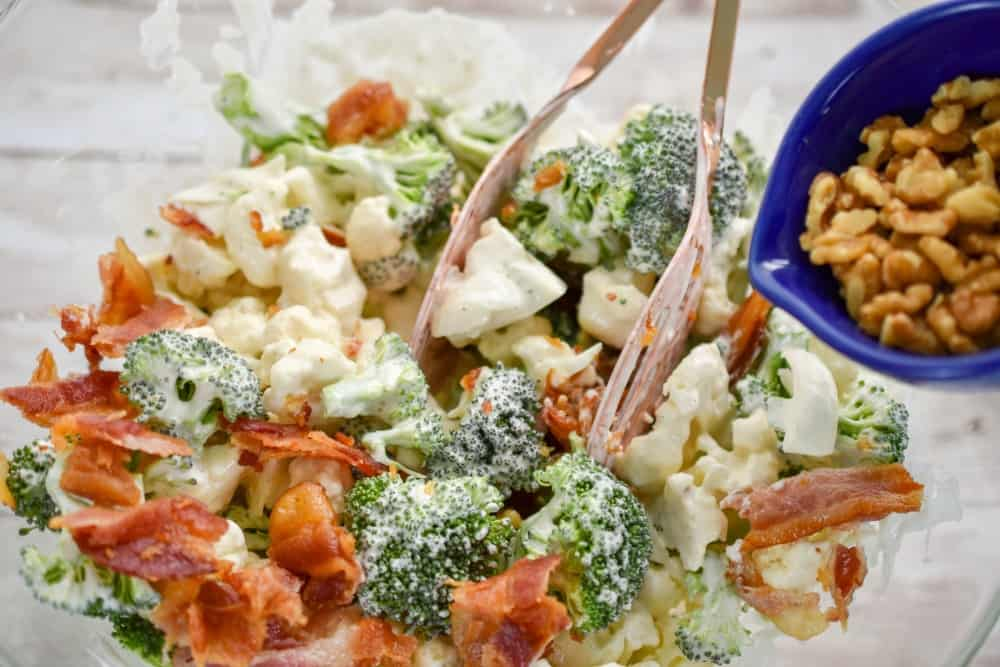Keto Broccoli cauliflower salad Amish