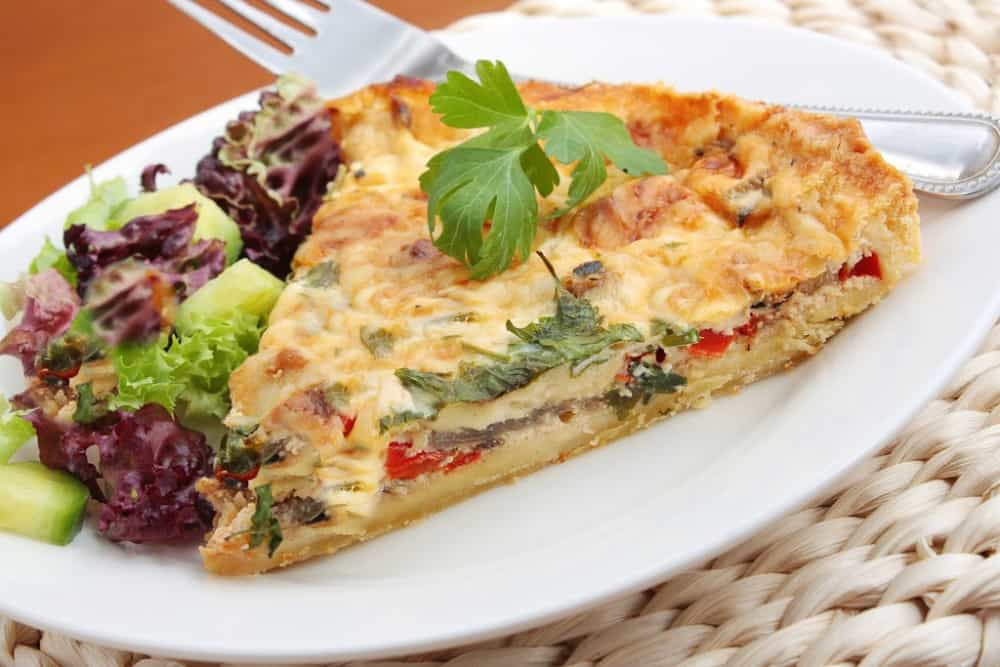 low carb quiche ready to serve