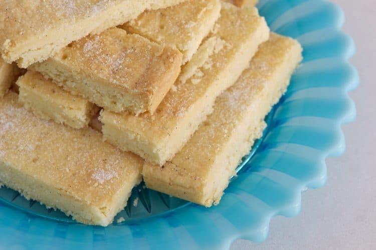 Keto Shortbread Cookies Plated