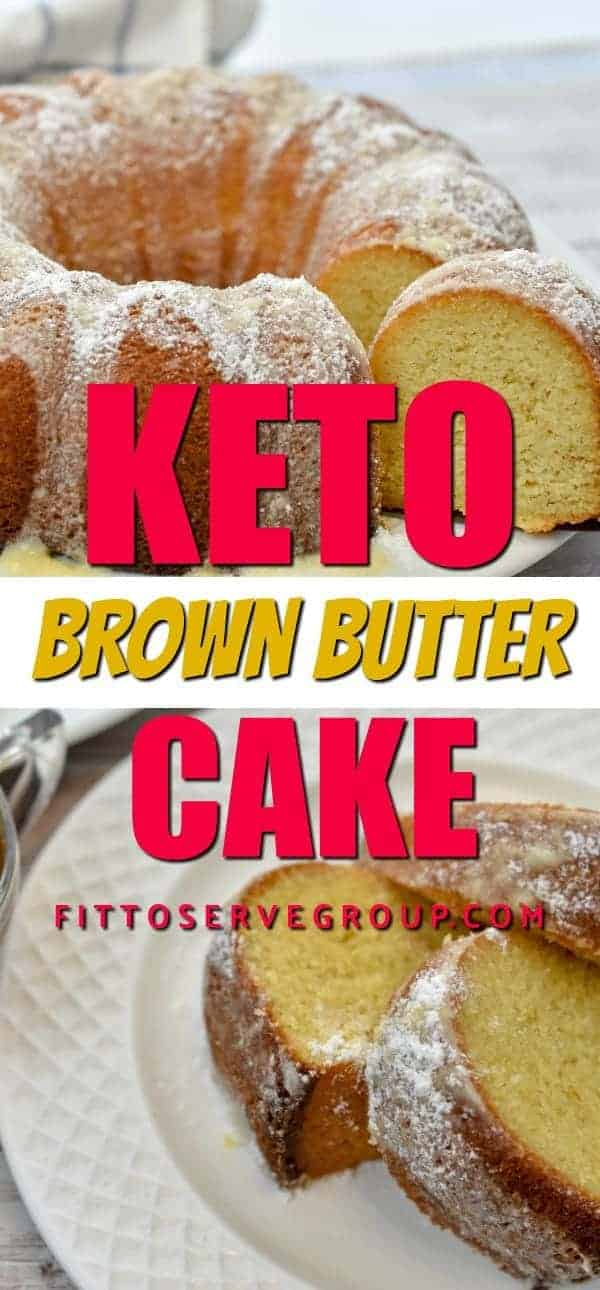 Keto brown butter bundt pan cake