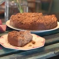 Keto Sour Cream Cinnamon Coffee Cake
