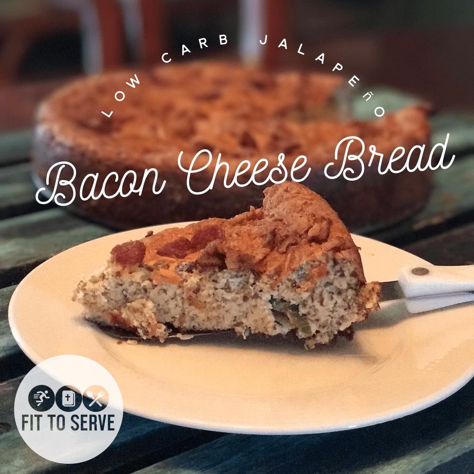 Keto jalapeno bacon cheese bread