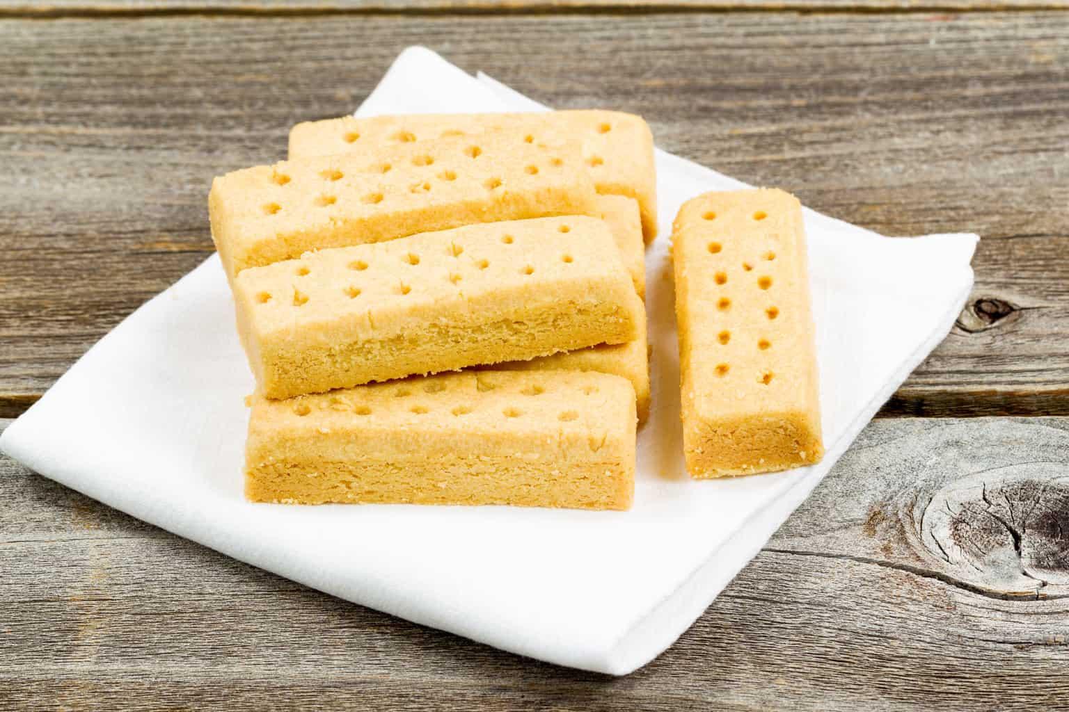 low carb shortbread cookies almond flour on a white napkin