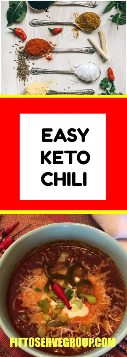 An easy keto chili recipe that is low in carbs and keto friendly