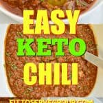 Easy Keto Chili- Our family recipe for bold chili. It's packed with Tex Mex flavors yet still manages to be keto-friendly and easy to make.
