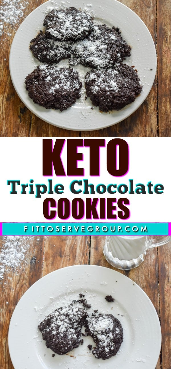 Keto Triple Chocolate Cookies