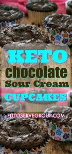 Keto chocolate sour cream cupcakes
