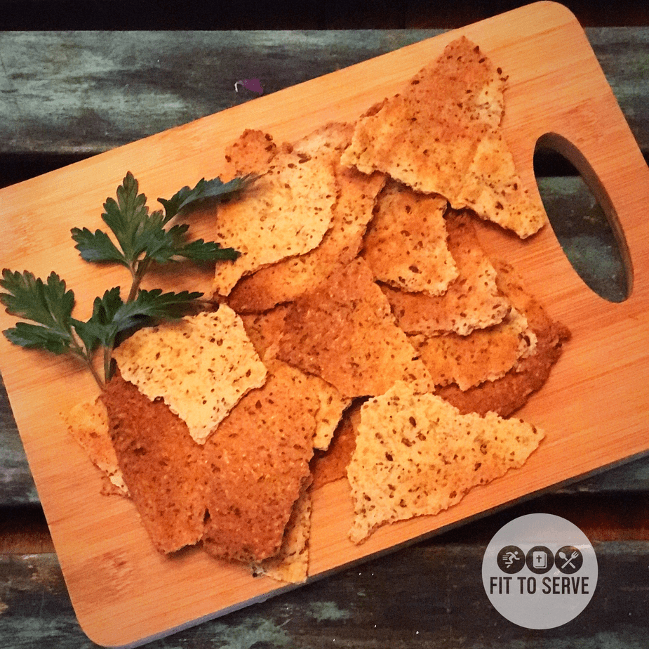 low carb high fiber cheesy crackers