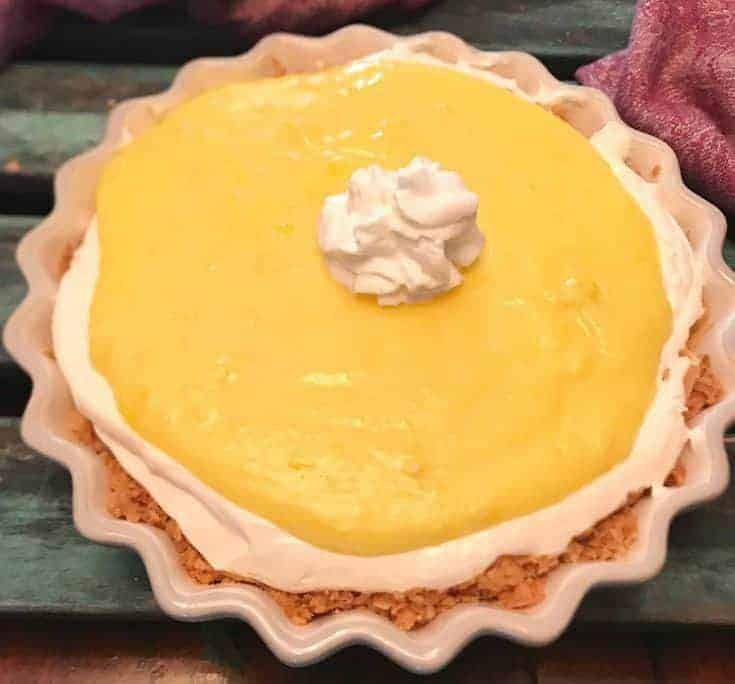 Keto Lemon Curd Pie