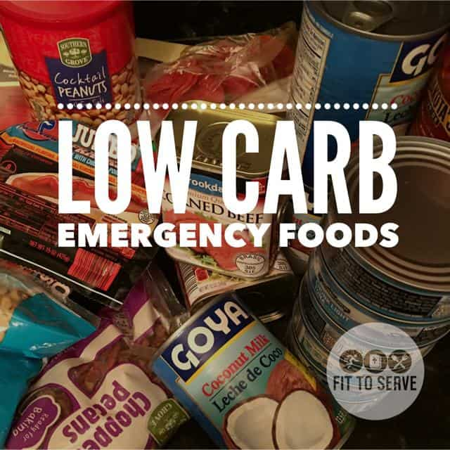 Low Carb Emergency Food Prep
