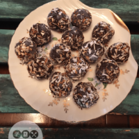 Keto Toasted Coconut Brownie Bites