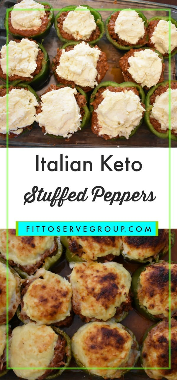 Italian Keto Stuffed Peppers a family favorite recipe made low carb keto friendly