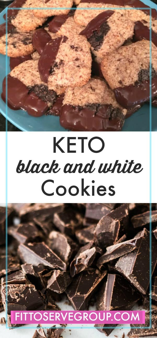 KETO black and white cookies