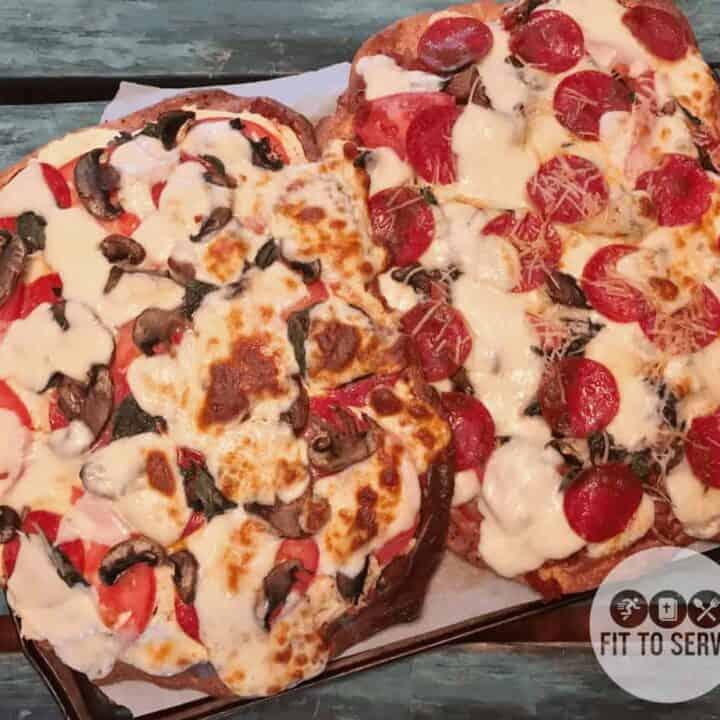 Delicious freeform fathead pizza