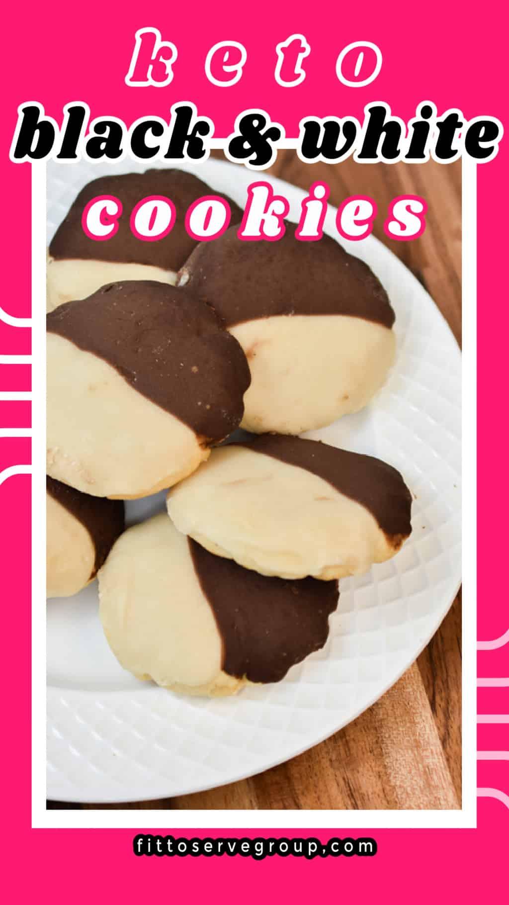 keto black and white cookies pin