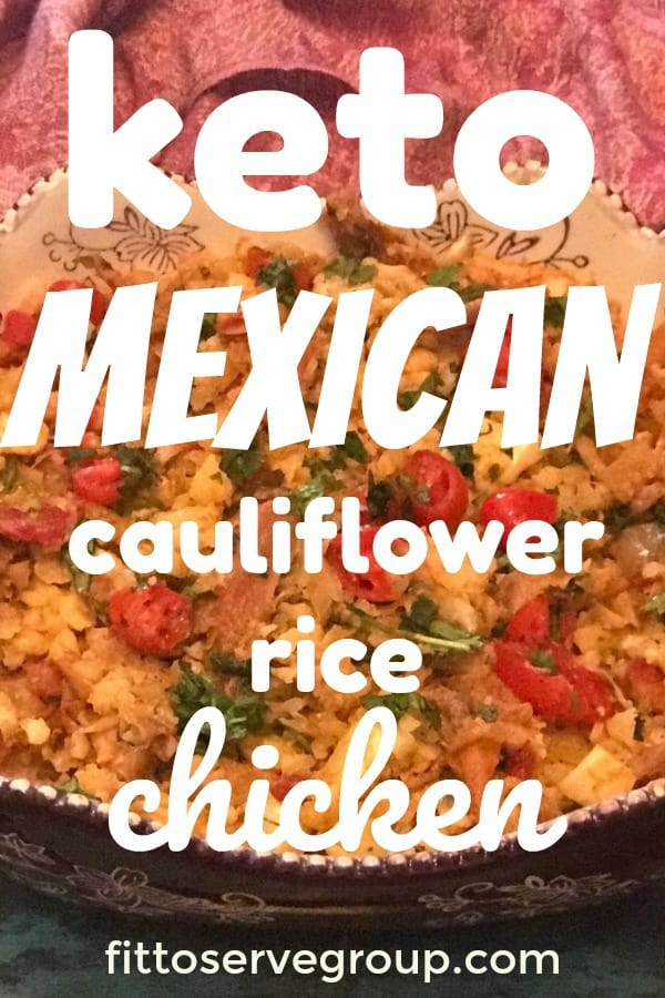 keto mexican cauliflower and chicken