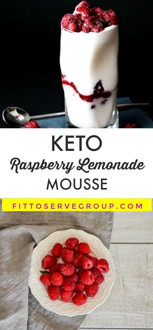 Low Carb Keto Raspberry Lemonade Mousse