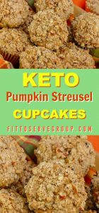 This recipe for keto pumpkin streusel cupcakes is sure to be your cupcake of choice all pumpkin season long. It's moist, tender and packed with flavor. keto pumpkin coffeecake |keto coffeecake cupcakes|lowcarb pumpkin coffeecake |keto pumpkin streusel cupcakes