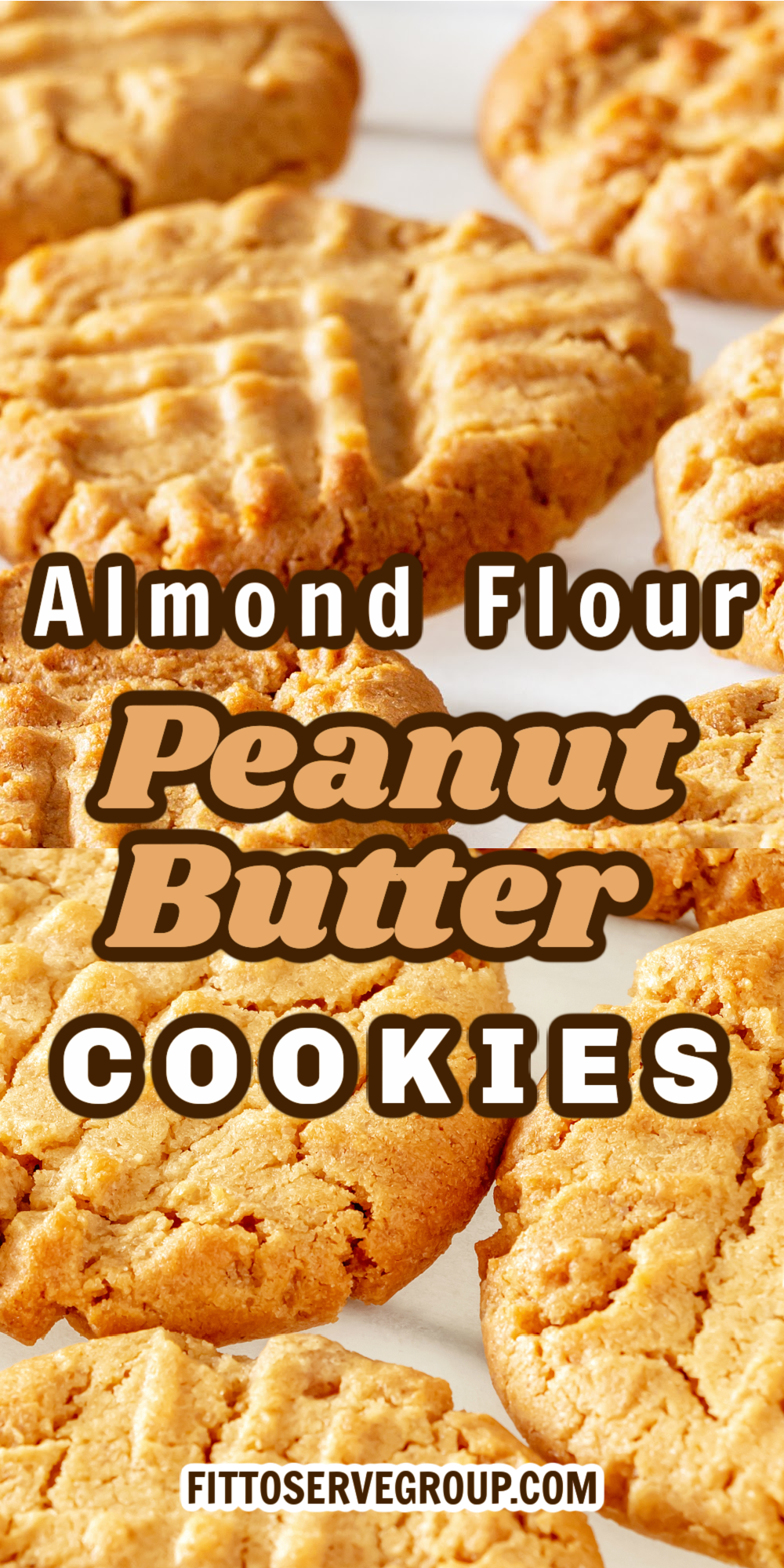 ALMOND FLOUR PEANUT BUTTER COOKIES KETO ON A WHITE PLATE