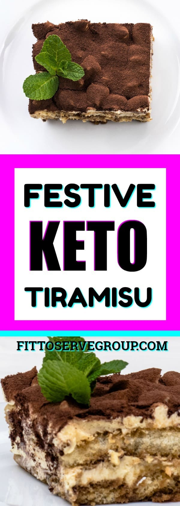 Festive Keto Tiramisu Cake! It's keto tiramisu that is not only delicious but easy to make. It's low in carbs, sugar-free, grain and gluten-free too. keto tiramisu |low carb tiramisu |keto dessert |keto tiramisu cake |low carb tiramisu cake