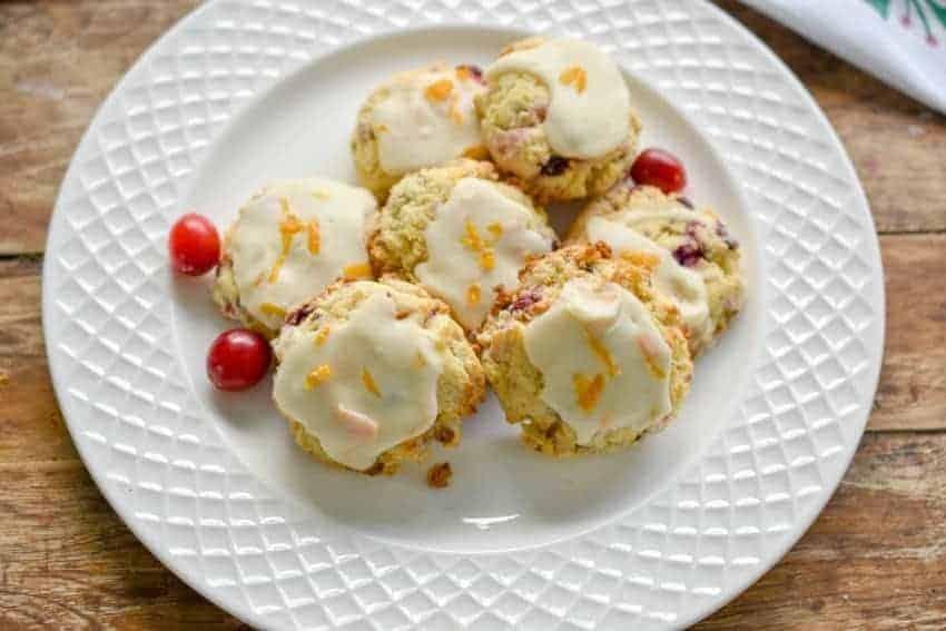 Keto Cranberry orange cookies