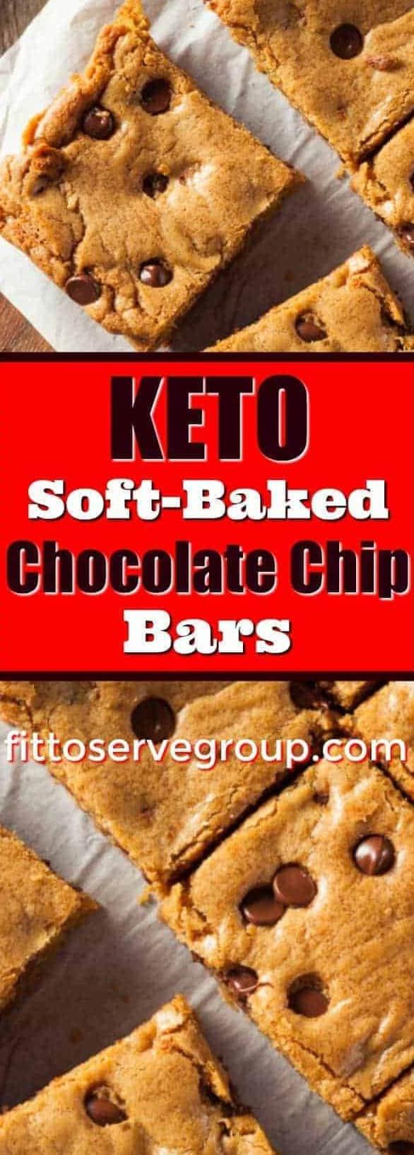 Keto Soft Baked-Chocolate Chip Bars