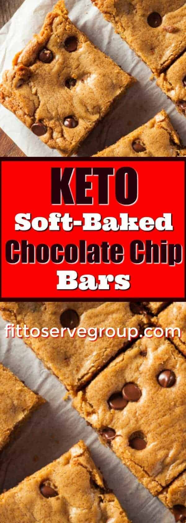 Keto Soft Baked Chocolate Chip Bars. If you're wanting a chocolate chip bar recipe that is low in carbs and keto-friendly, these are it. #ketochocolatechipbars #ketosoftbakedcookies #ketosoftbakedchocolatechipbars #lowcarbsoftbakedcookies #lowcarbcookiebars #lowcarbcookies ketocookies |keto cookie bars