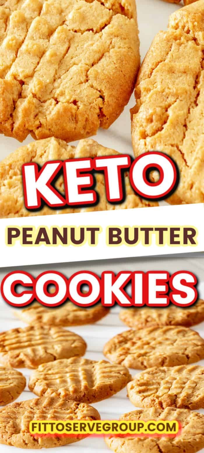 If what you are wanting is a recipe for Keto Peanut Butter Cookies that reminds you of the traditional one you grew up on, then this is the recipe for you. It's not only easy to make but it produces a low carb peanut butter cookie that has the perfect texture. Made with almond flour! #ketopeanutbuttercookies #lowcarbpeanutbuttercookies #easyketopeanutbuttercookies #ketocookies #lowcarbcookies