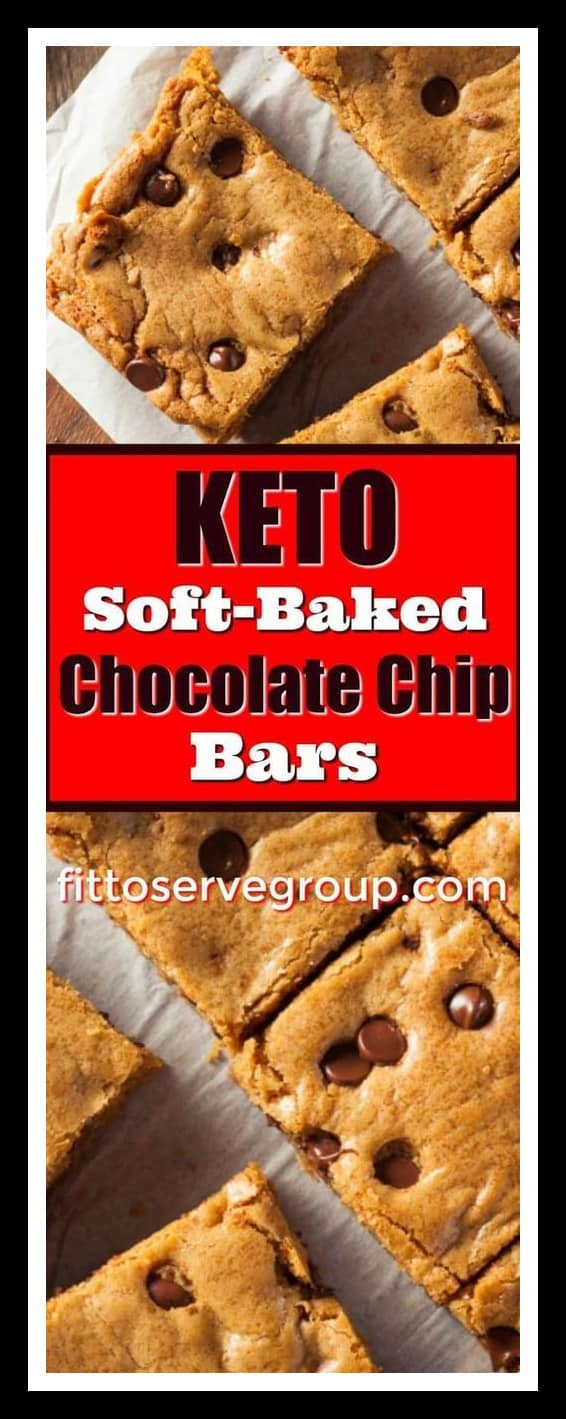 keto soft baked chocolate chip bars