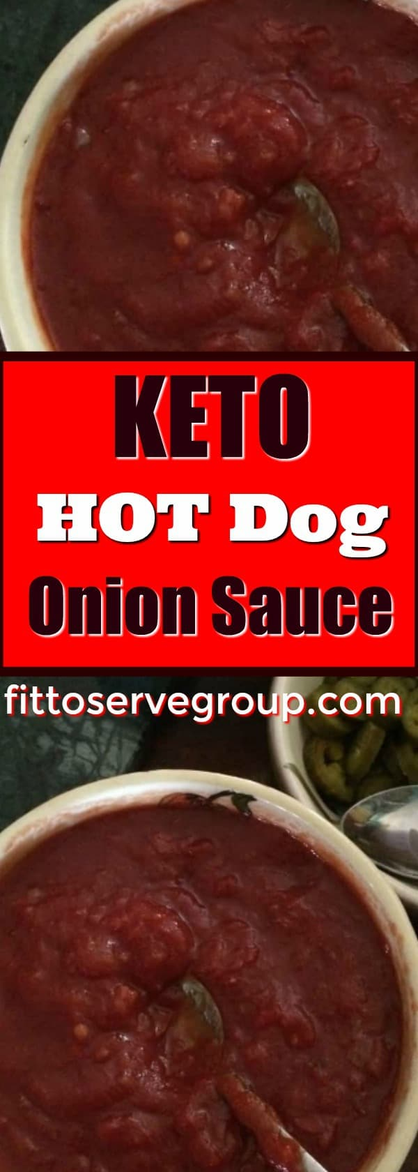 Keto hot dog onion sauce