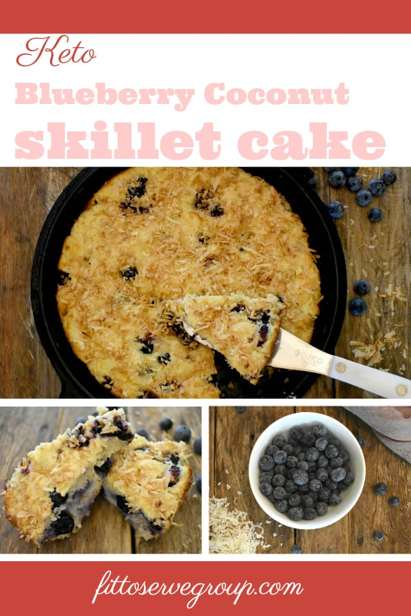 Keto Blueberry Coconut Skillet Cake