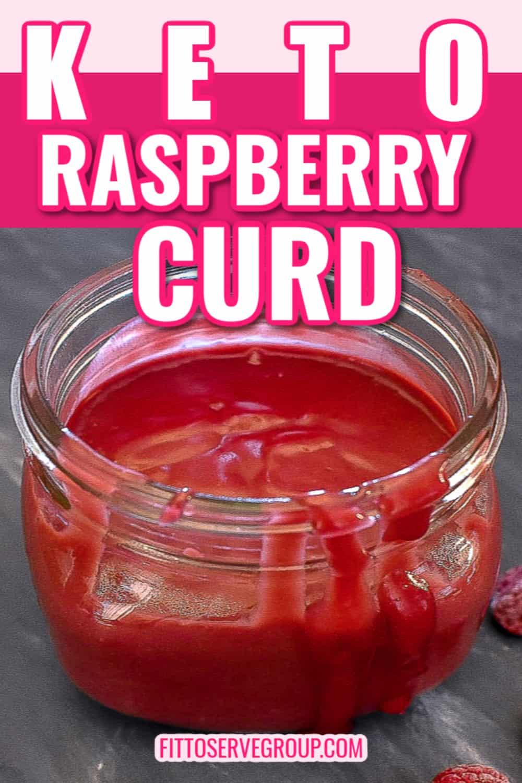 low carb raspberry curd in a mason jar