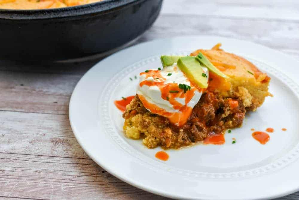 keto tamale pie served