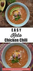 An Easy Keto Chicken Chili Recipe made in slow cooker for added convenience
