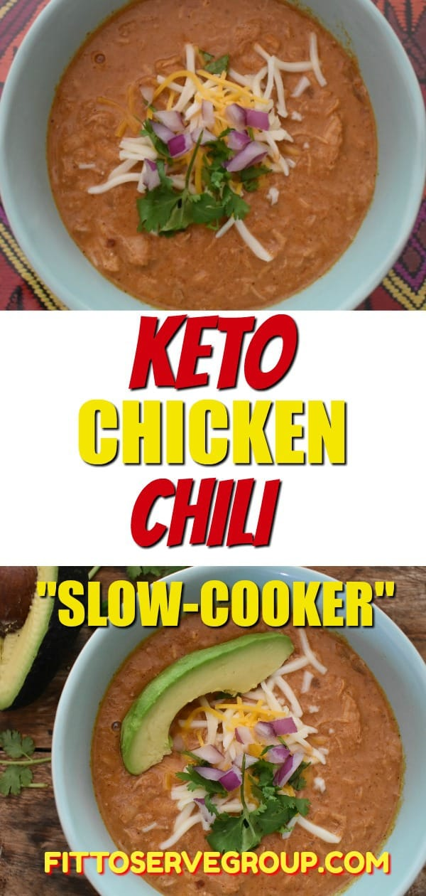 keto chicken chili in crockpot