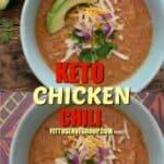 easy keto chicken chili long pin