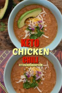 easy keto chicken chili long pin