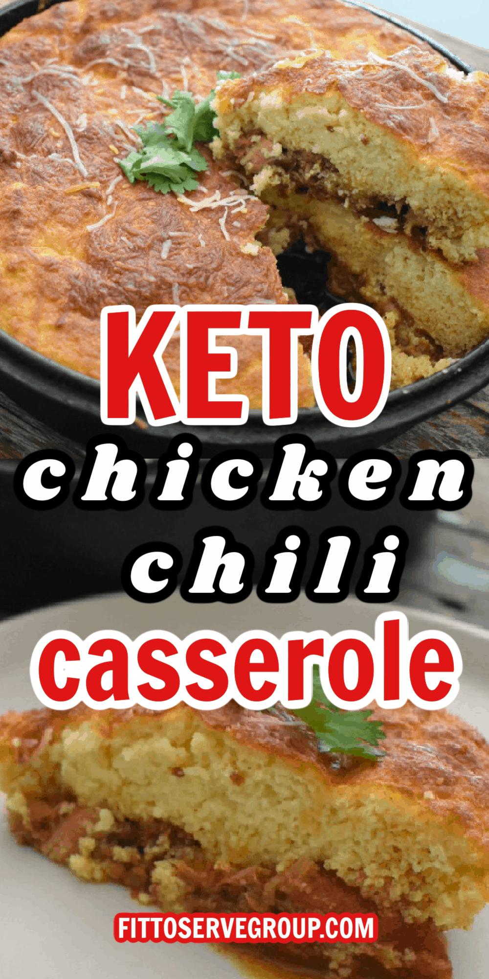 Keto Chicken Chili Casserole long pin