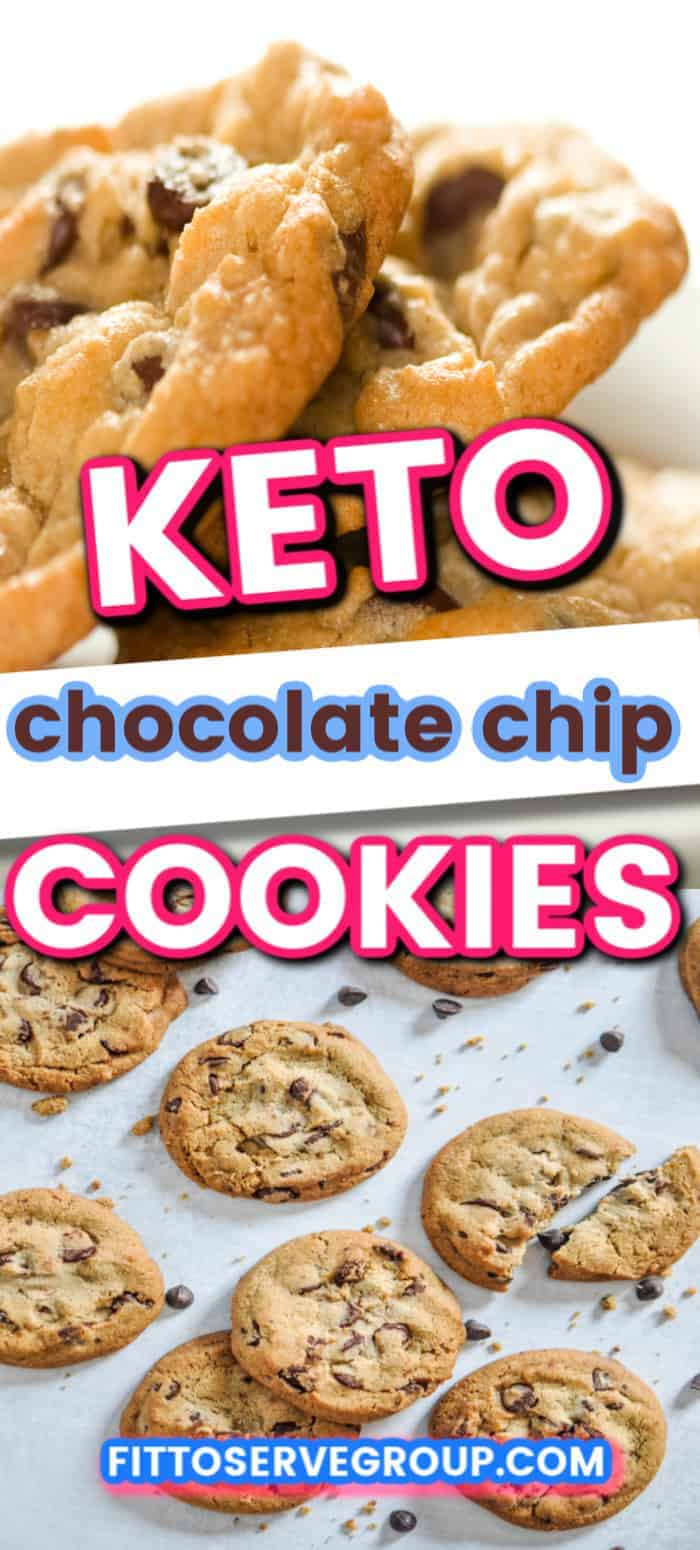 These Keto chocolate chip cookies rival their high carb counterparts! They  are the perfect ketosis chocolate chip cookie recipe not only are they delicious but it keeps you compliant while doing a ketogenic diet. #ketochocolatechipcookies #lowcarbchocolatechipcookies #ketocookies