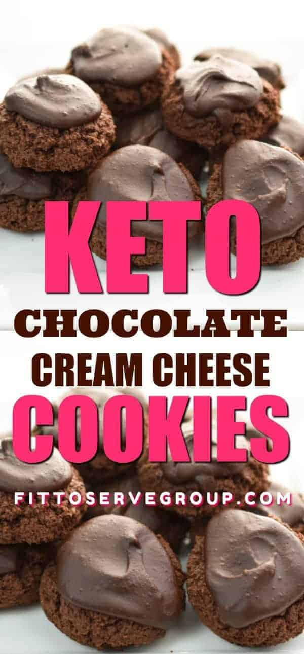 Keto Cream cheese chocolate cookies