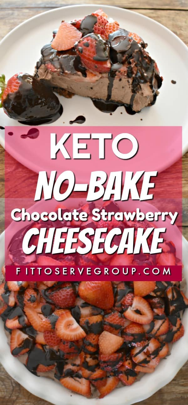 Keto No-Bake Chocolate Strawberry Cheesecake