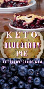 keto blueberry pie a low carb blueberry pie