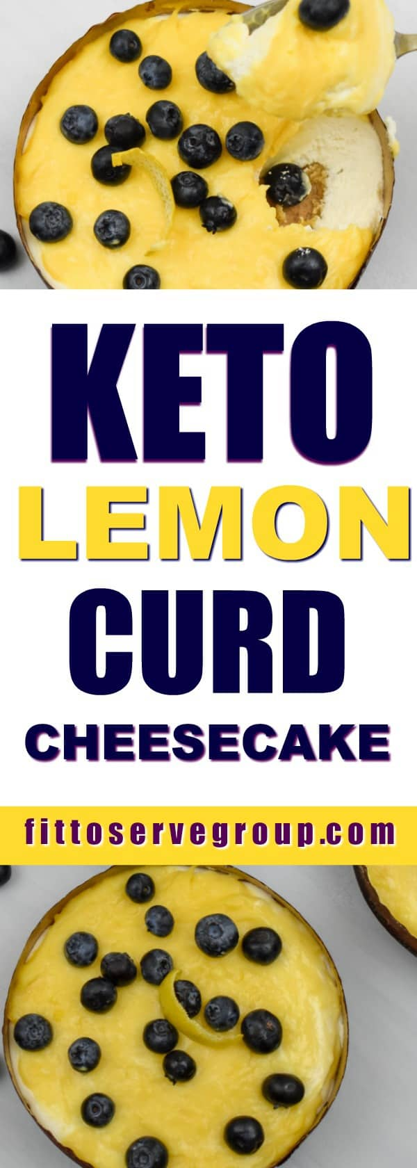 Keto lemon curd blueberry cheesecake