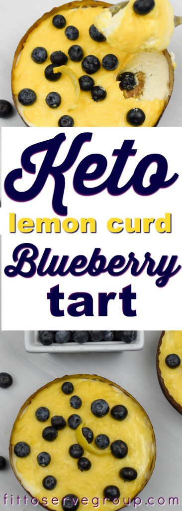 Keto lemon curd blueberry cheesecake tart