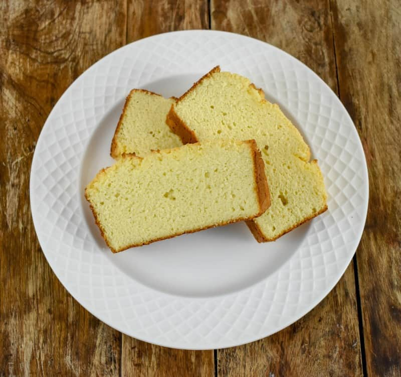 Keto Coconut Flour Cream Cheese Pound Cake Slices