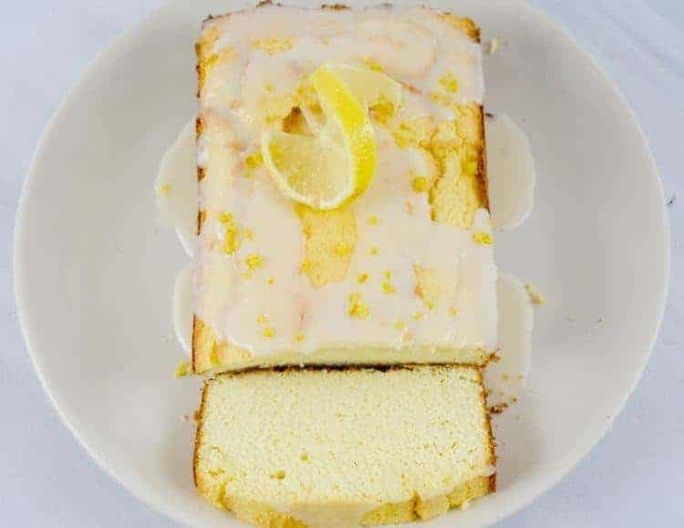 Keto Cream Cheese Coconut Flour Pound Cake With Optional Lemon Icing
