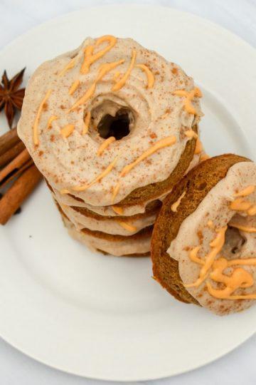 Keto Pumpkin Cream Cheese Donuts