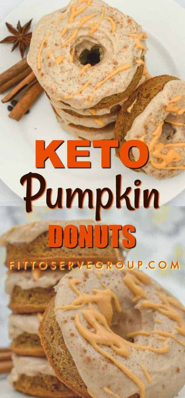These Keto Pumpkin Cream Cheese Donuts are a pumpkin season delight. Packed with the flavors of Fall they are sure to be a hit. They are grain-free, gluten-free, sugar-free and keto-friendly.