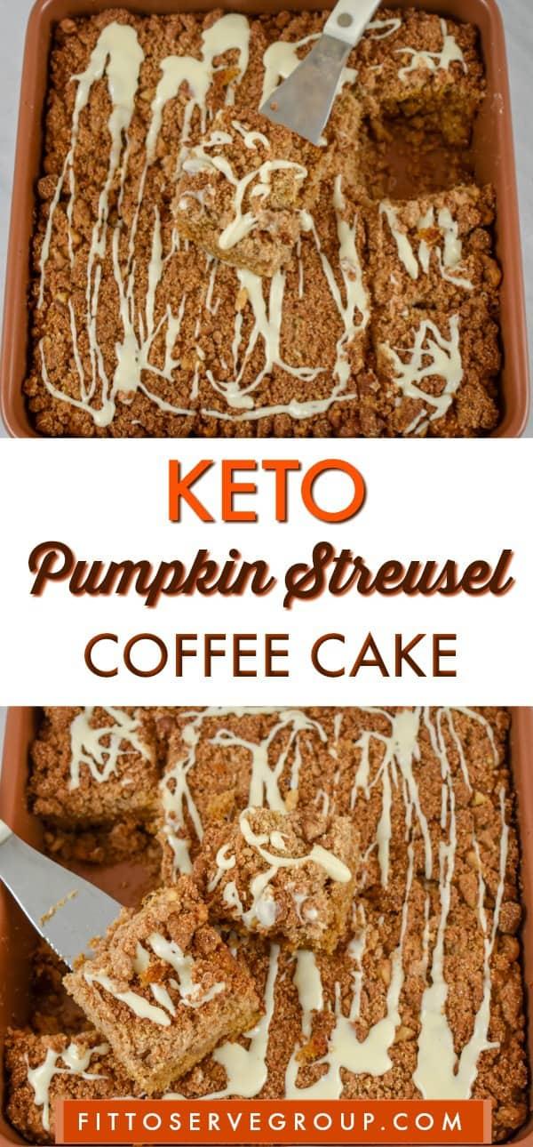 Keto pumpkin streusel coffee cake