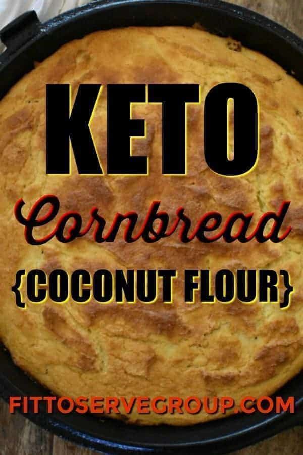 Keto Corn Bread { Coconut Flour}